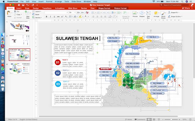 Peta Sulawesi Tengah Editable