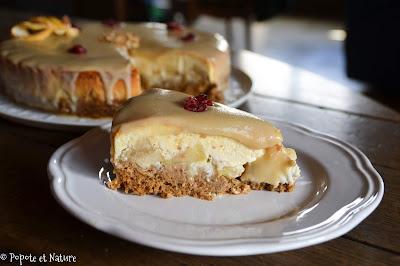 Cheesecake sauce au sirop d'érable © Popote et Nature