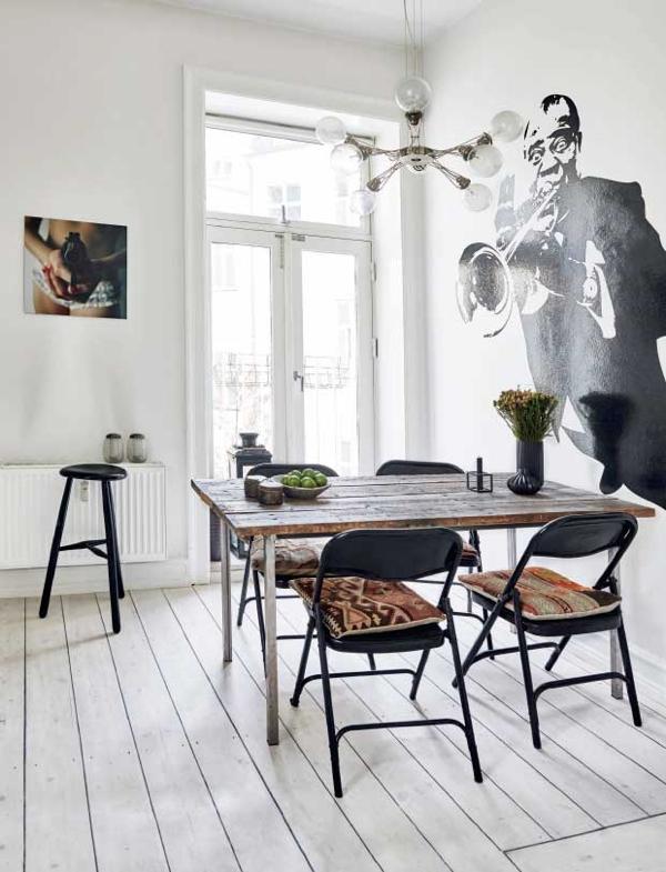 office de cocina nórdica con piezas de herencia de estilo bohemio chicanddeco