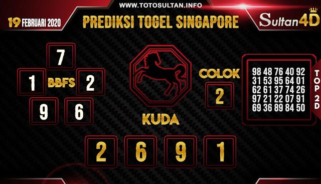PREDIKSI TOGEL SINGAPORE SULTAN4D 19 FEBRUARI 2020