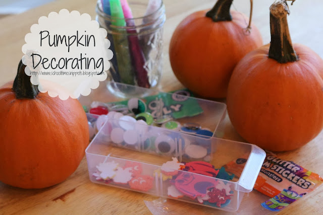 pumpkin decorating for preschoolers