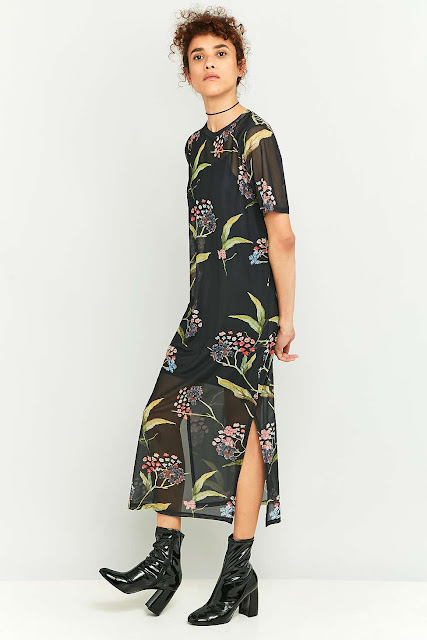light before dark floral dress, urban outffiters floral midi dress,