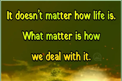 It doesn't matter | Life Quote In English