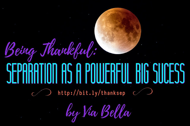 Being Thankful: Separation as a Powerful Big Sucess, separation, divorce, Thanksgiving, Pain during the holidays, depression during the holidays, being alone, getting through it, being positive, being real about holidays and separation