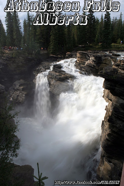Athabasca Falls, Alberta,Beautiful scenery