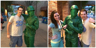 pixar place green army man