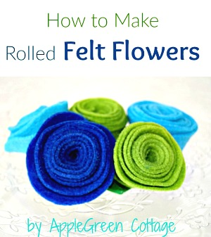 Easy DIY Felt Flowers - Tutorial
