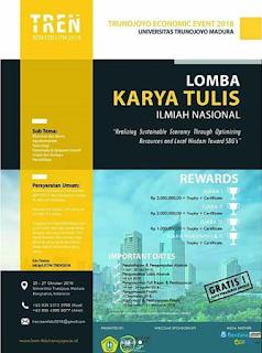 Lomba Karya Tulis Ilmiah Nasional Mahasiswa TREN 2018 di UTM