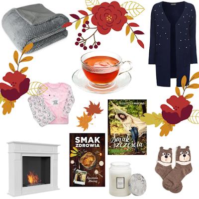 jesień, wieczory zimowe, whislista jesień, książka, skarpety, świece, biokominek