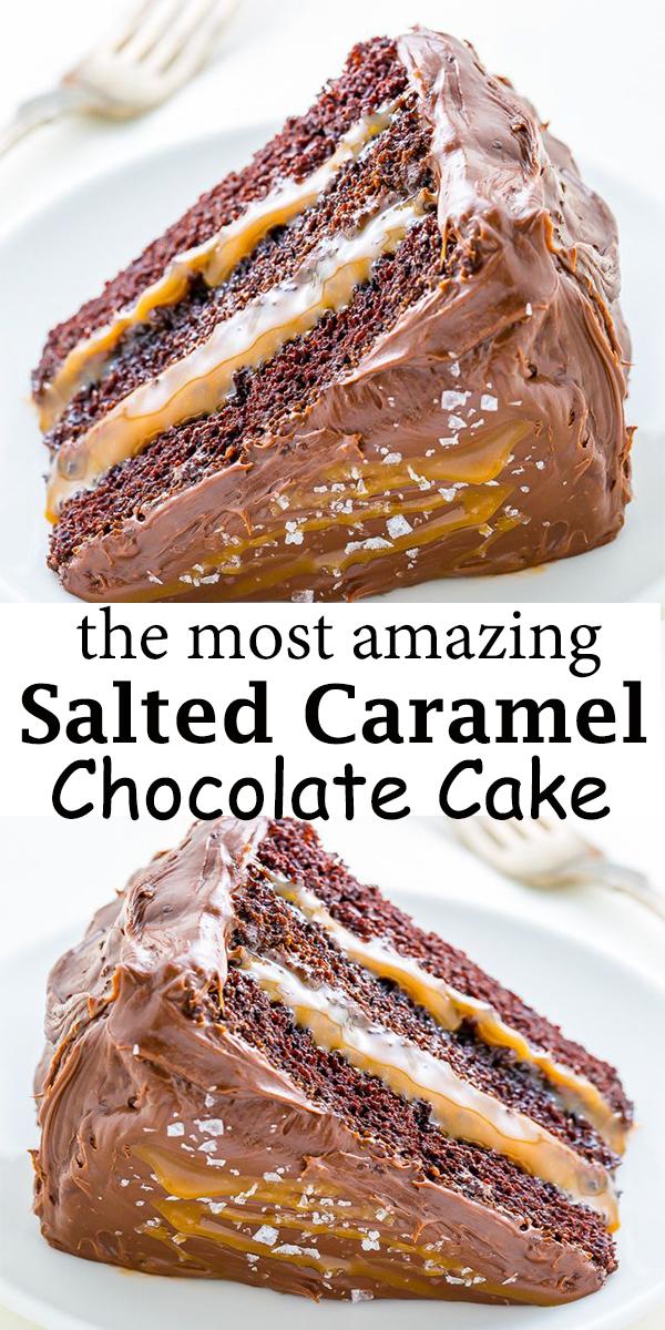 Salted Caramel Chocolate Cake #Salted #Caramel #Chocolate #Cake #SaltedCaramelChocolateCake