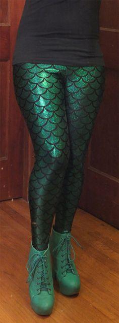 Fantasias para Halloween o que não vestir,  calça leg sereia com brilho