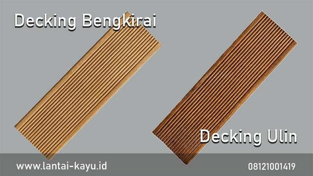 pemasangan decking kayu di Villa