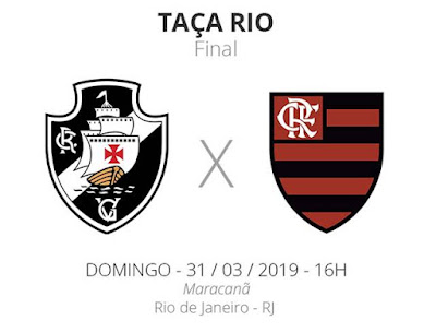 Jogo Vasco x Flamengo Ao Vivo na TV Globo 31/03.