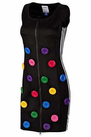 vestido con botones de Adidas