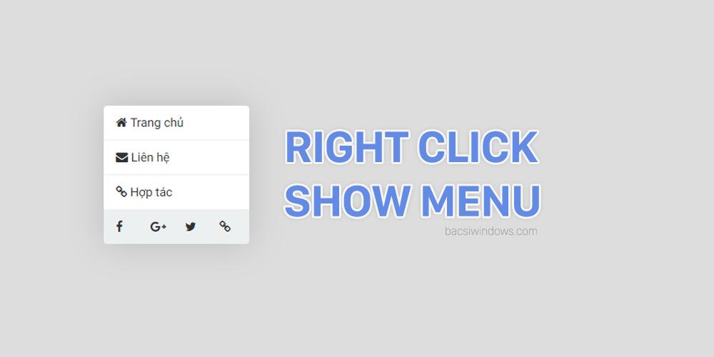 Thủ thuật chống Copy bằng Menu chuột phải tuyệt đẹp cho Blogspot