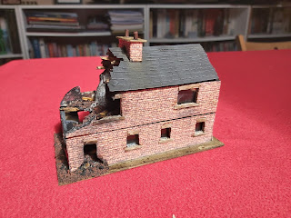 The rear of the building with all the weathering and details finished