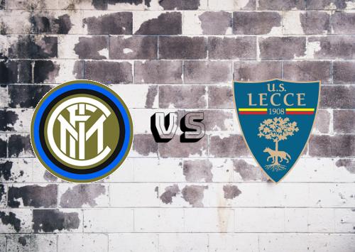 Internazionale vs Lecce  Resumen y Partido Completo