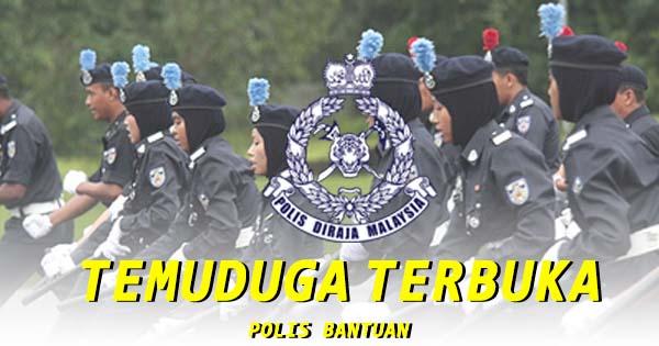 Temuduga Terbuka Polis Bantuan di Malaysia