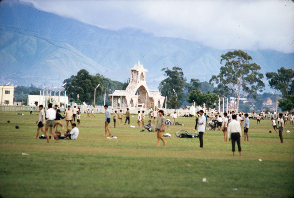 Old image of Tudikhel, Kathmandu