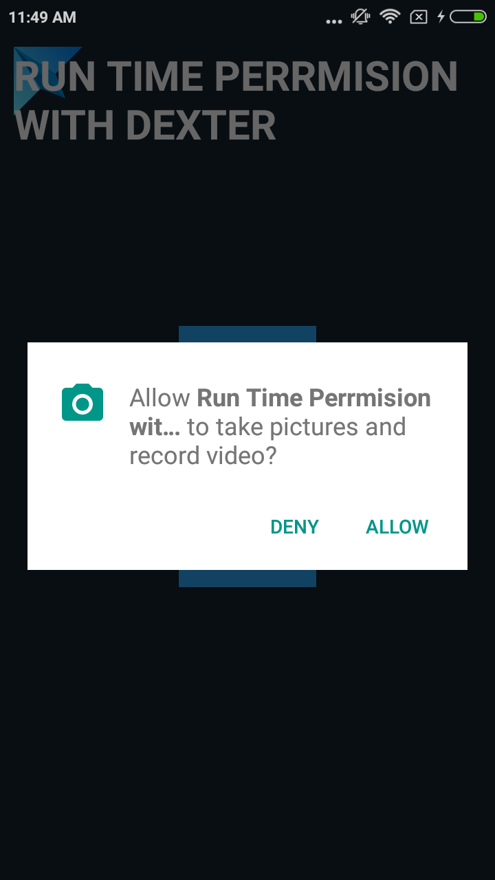 Android Runtime Permissions with Dexter Library (Simple