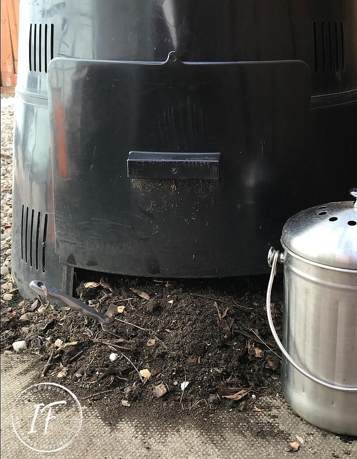 Backyard Compost Barrel Soil