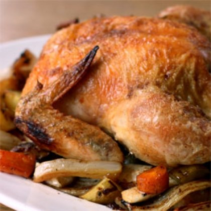Roast Chicken and Roots