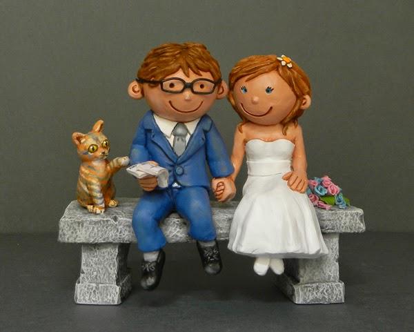 cake topper particolari personalizzati romantici divertenti sposini torta orme magiche
