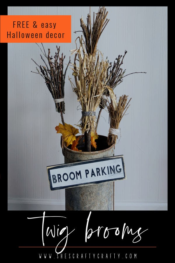 Free and easy Twig Broom Halloween decor