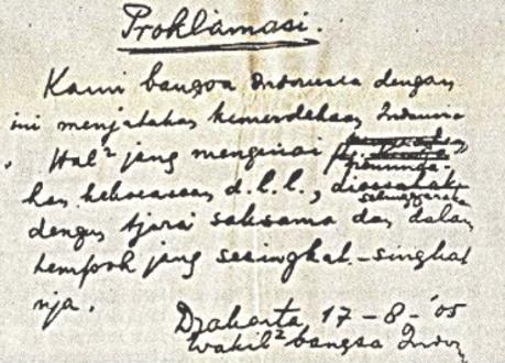 Pengertian Teks Proklamasi Kemerdekaan Indonesia Adalah
