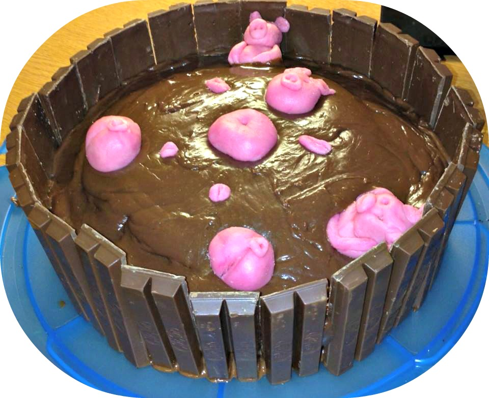 Pigs In The Mud Cake With Kit Kats Recipe