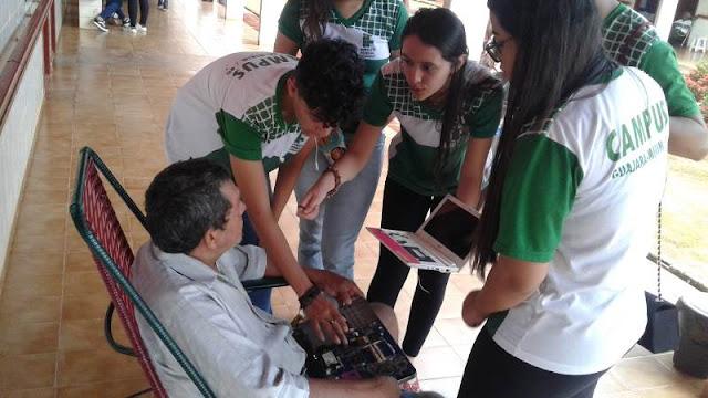 Estudantes do IFRO desenvolvem ação social para idosos