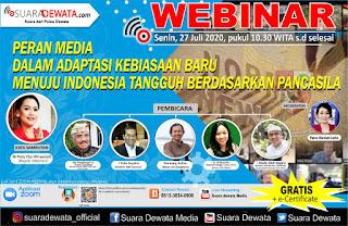 """""""Ikuti Zoom Meeting"""" PERAN MEDIA DALAM ADAPTASI KEBIASAAN BARU MENUJU INDONESIA TANGGUH BERDASARKAN PANCASILA"""