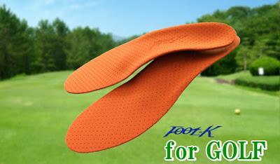 ゴルファーのためのFoot-Kインソール ゴルフカスタム