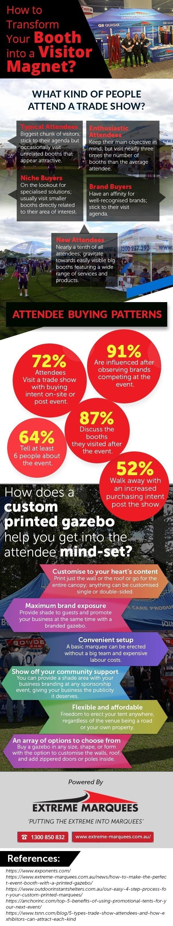 How to Transform Your Booth Into a Visitor Magnet? #infographic