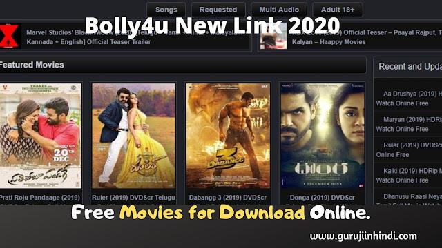 Bolly4u 2020 : Bolly4u Org Bollywood Movies Download Sites Hindi