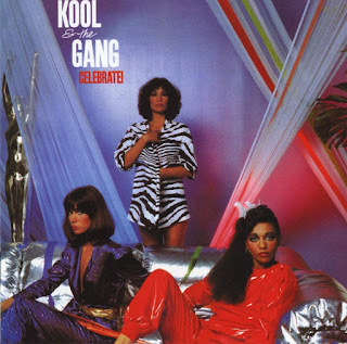 Kool and the Gang record cover - 3 women around a silver sofa