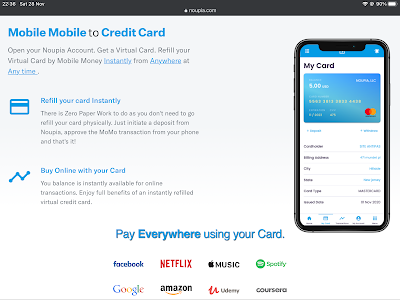 Noupia credit card