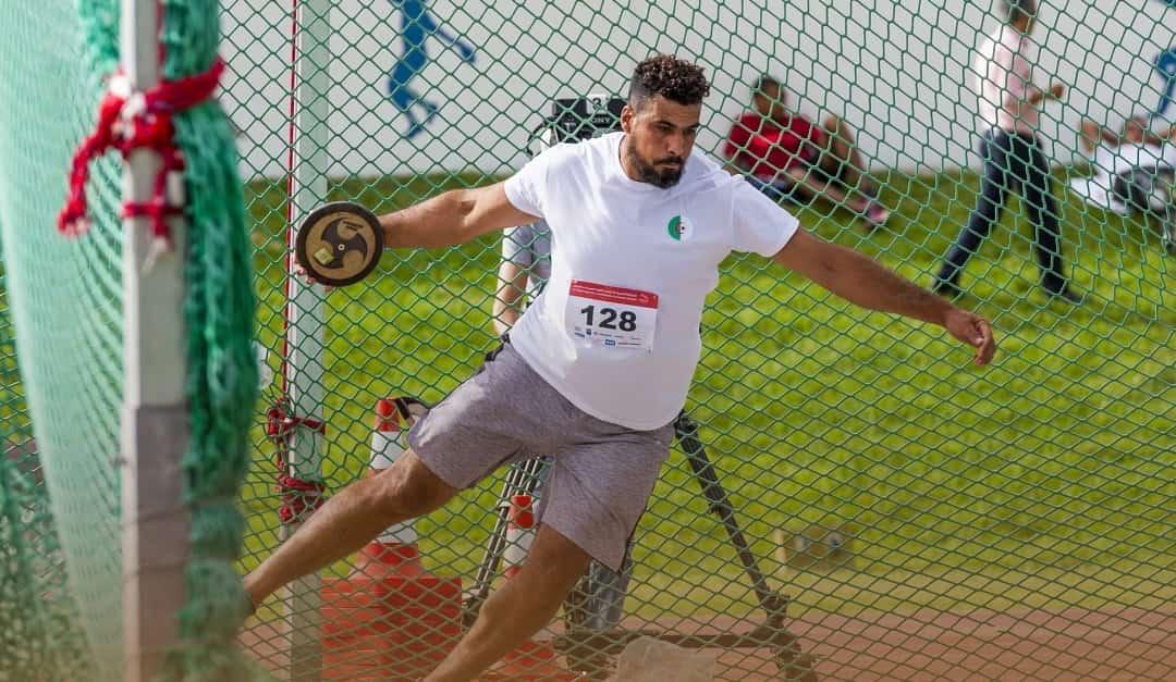 عبد المؤمن بورقبة يحطم الرقم القياسي الوطني لرمي القرص
