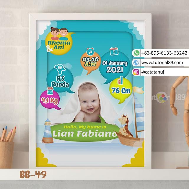 Biodata Bayi Costume Unik Kode BB49 | Biru Putih