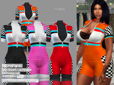 99 Short Jumpsuit for The Sims 4