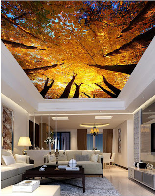 New 3d ceiling art designs for modern interior
