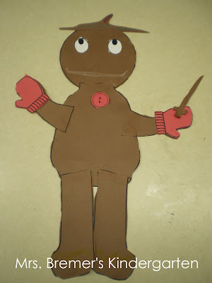 Gingerbread man craftivity perfect for Kindergarten at Christmas