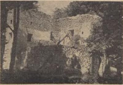 Fragment murów zamku Bolczów w 1959 r.