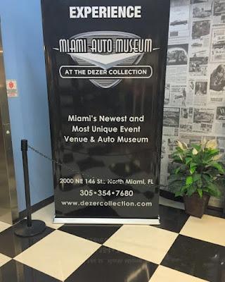 O Miami Auto Museum abre diariamente entre dez horas da manhã e seis horas da tarde.
