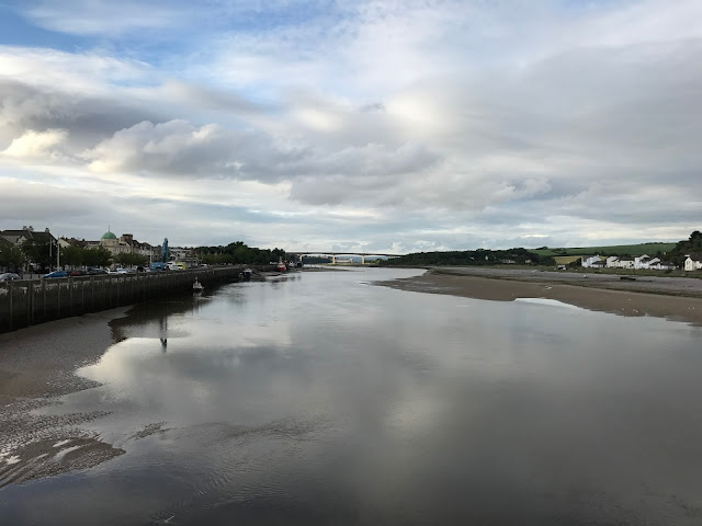 Looking north from the Old Bideford Bridge, Bideford, Devon