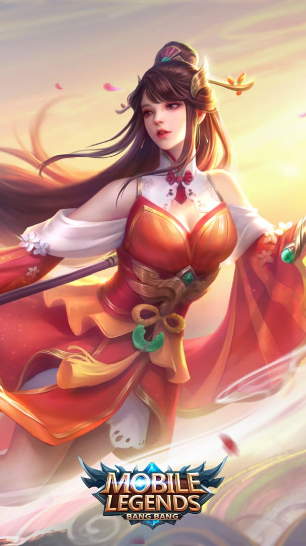 Wallpaper Odette Auspicious Charm Skin Mobile Legends full HD for Android and iOS