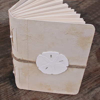 handmade guest book beach theme by Emerson Bindery