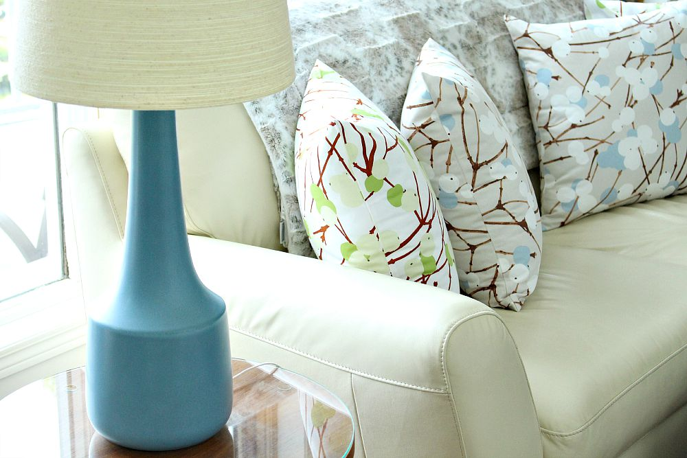 Lumimarja pillows; Blue Lotte lamp