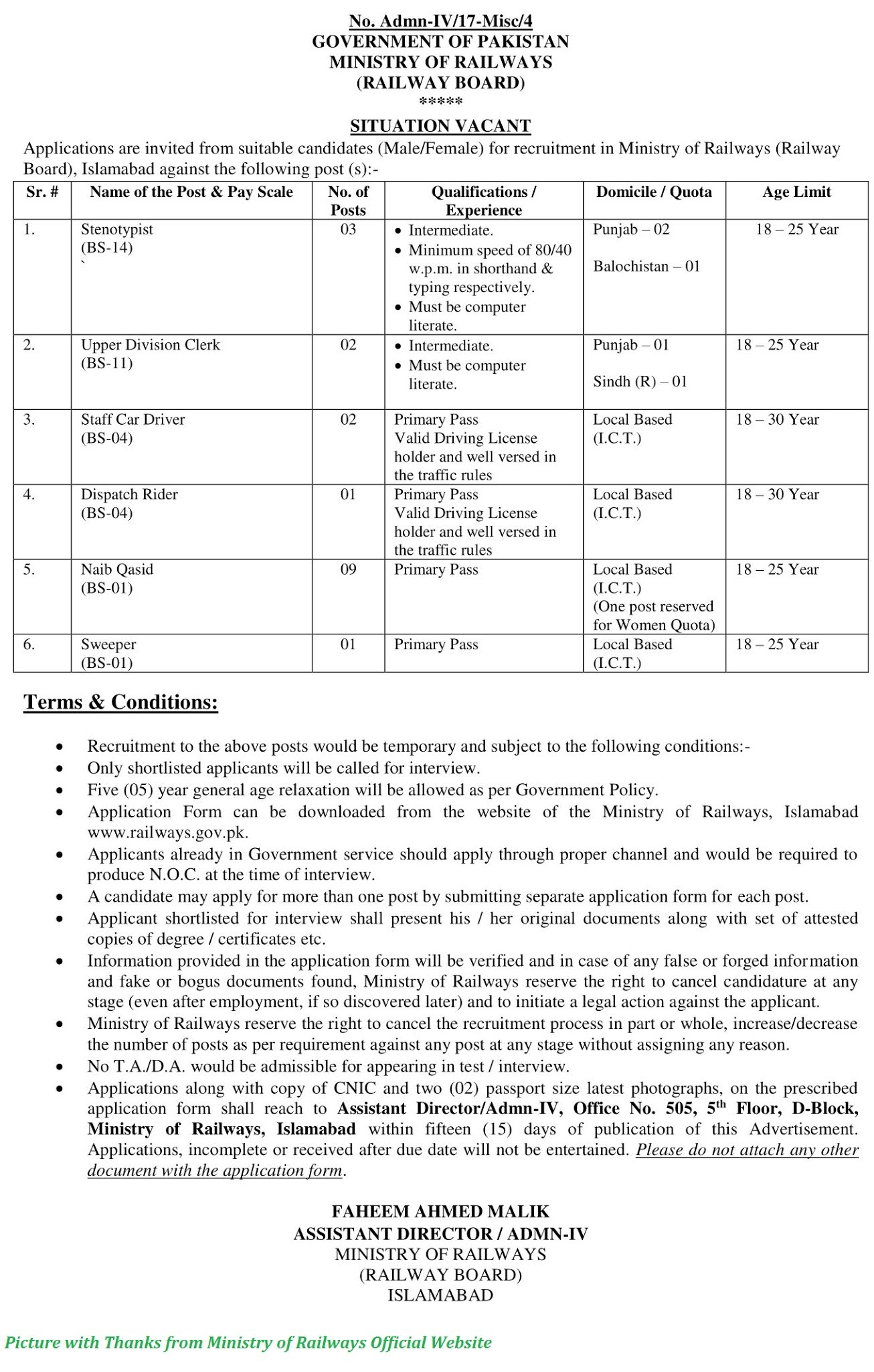 Pakistan Railway Jobs 2020 - Latest Jobs in Pakistan Railway 2020 Download Application forms for Pakistan Railway Jobs October - 2020