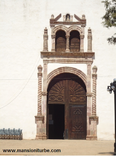 Entrance of the Ex Convent of Santa Ana in Tzintzuntzan